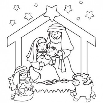 Jesus Christmas Coloring Pages at GetDrawings.com | Free for ..