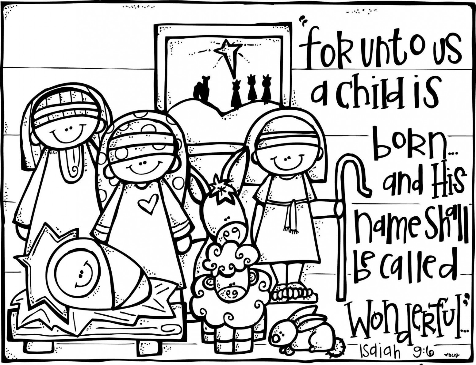 Jesus Coloring Pages Pdf - Coloring Innovative Nativity Sheet for ...