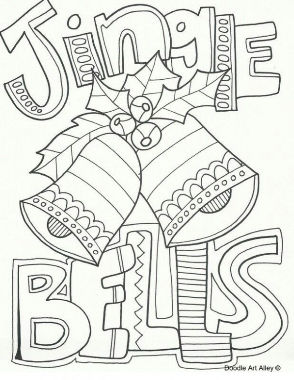 Jingle bells coloring page | Music | Christmas coloring pages ..