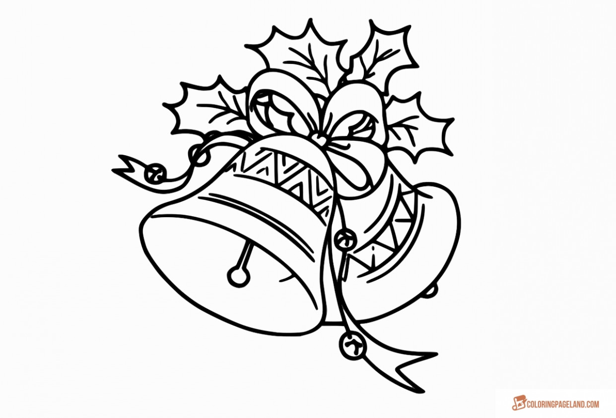 Jingle Bells Coloring Pages – Free Printable Images for Kids – Christmas Colouring Pages Bells