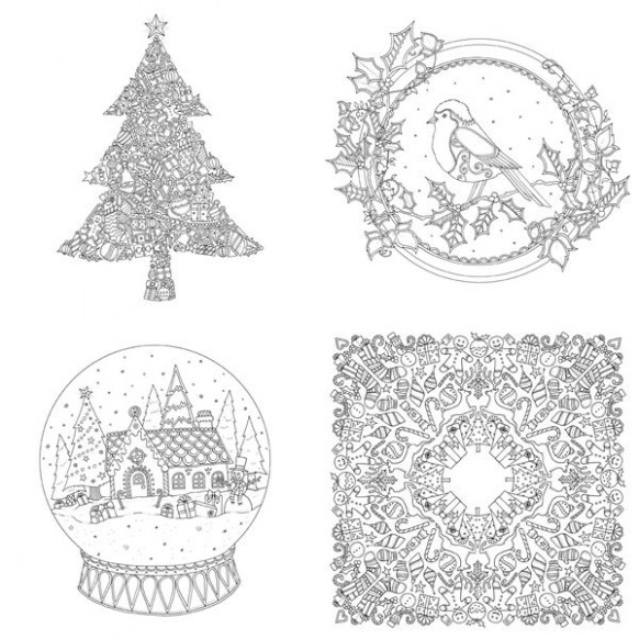 Johanna Basford Christmas Mini Coloring Book | Pages to Color ..
