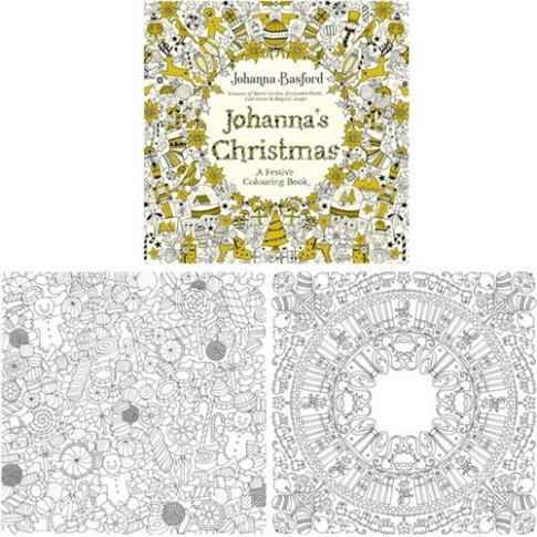 Johanna's Christmas Adult Colouring Book 20 Pages | OfficeMax MySchool – Johanna Basford Christmas Coloring Pages