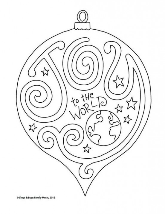 Joy to the World Christmas Coloring Page / Kids Holiday / Slugs and ..