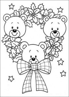 july christmas for kids | Teddy Bear color page – abcteach — Free ..