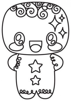 Kawaii Christmas - Gingerbread Man | Color pages | Christmas ...