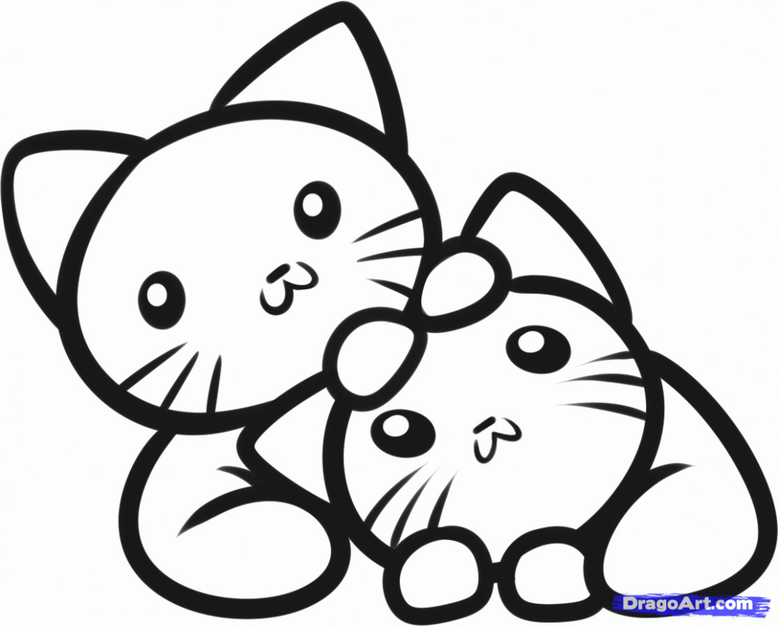 Kitten Coloring Pages – With Dltk Also Free For Kids (image Number ..