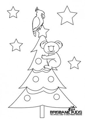 koala colouring in Christmas themed | australian christmas ..