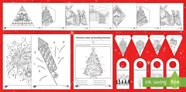 KS17 December Colouring Pages - christmas colouring sheets, advent ...