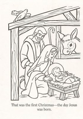 LDS Nursery Color Pages: Christmas Lesson | I belong to The Church ..