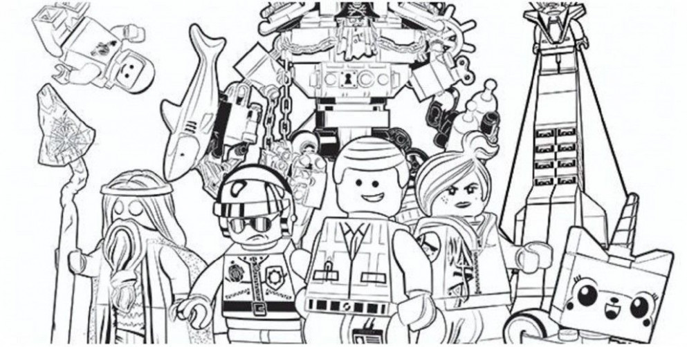 lego christmas coloring pages | Cartoon | Lego movie coloring pages ..