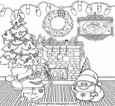 LETS COLORING BOOK: Cool Merry Christmas Minions Coloring Pages For ...
