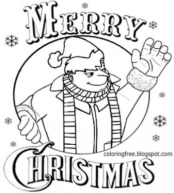 LETS COLORING BOOK: Minion – Christmas Coloring Pages Minion