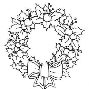 Light of Candle Shine on Christmas Wreaths Coloring Pages ... | ZB ...
