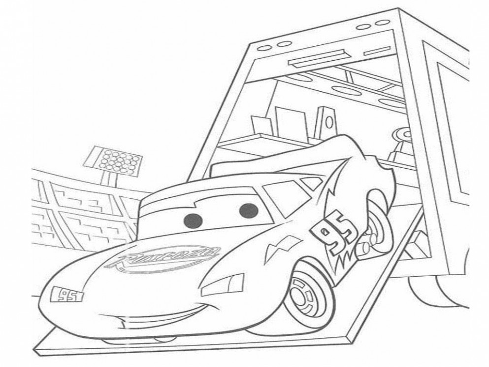 Lightning Mcqueen Coloring Pages For Kids — CLASSIC Style ..