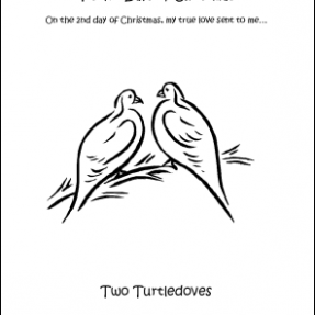 Make Your Own 14 Days of Christmas Coloring Book – Printable 12 Days Of Christmas Coloring Pages