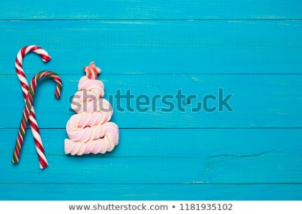 Marshmallows Shape Christmas Tree Two Colored Stock Photo (Edit Now ..