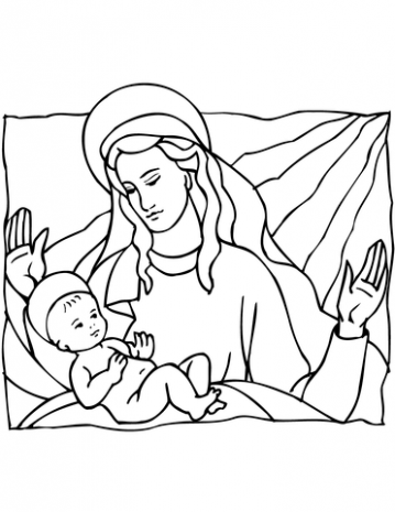 Mary and Baby Jesus coloring page | Free Printable Coloring Pages – Christmas Colouring Pages Mary And Joseph