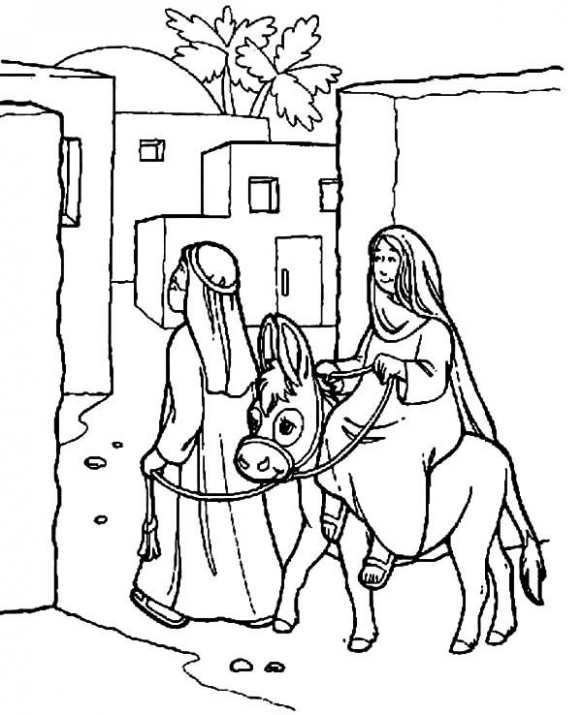 Mary and Joseph Bible Story Coloring Pages | nitivity | Coloring ..