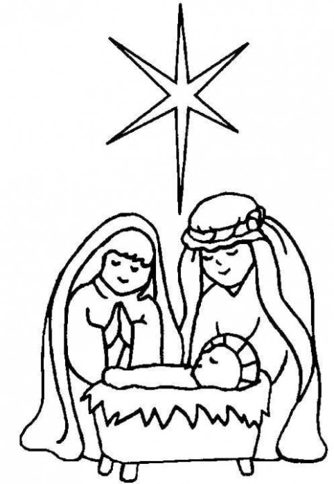 Mary, Joseph, and Baby Jesus Coloring Page Baby Jesus Coloring ..