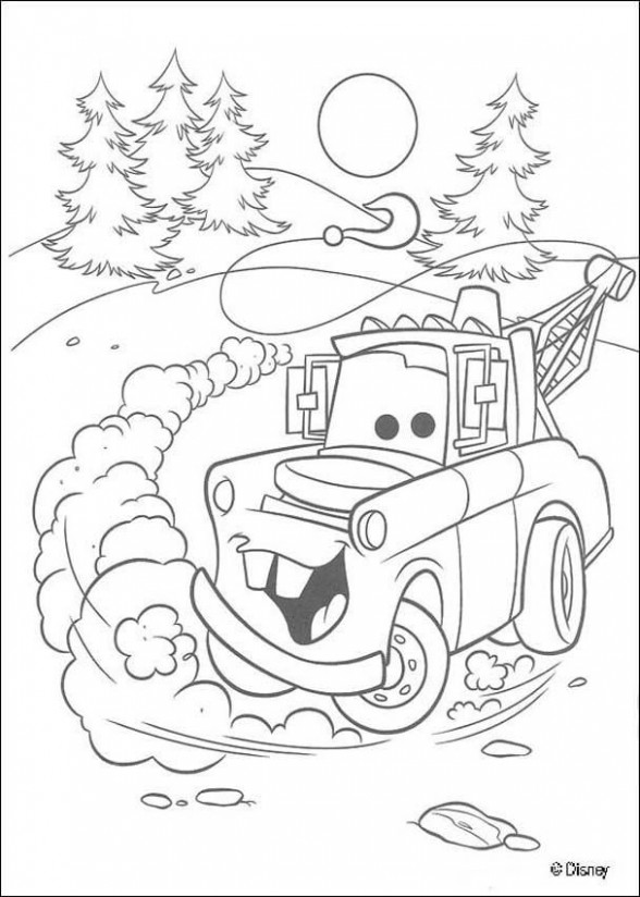 Mater Cars Christmas   School Stuff   Disney coloring pages, Cars ..