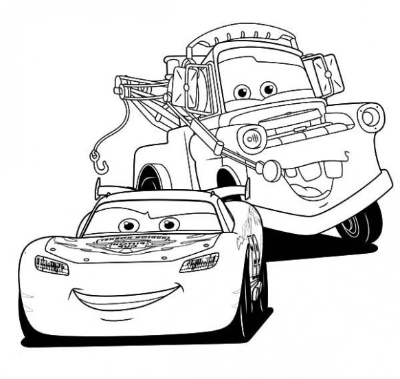 Mater, Lightning McQueen And Tow Mater Coloring Pages: Lightning ..