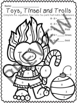 Math Centers Christmas Coloring Sheets - Addition  - Christmas Coloring Pages With Addition