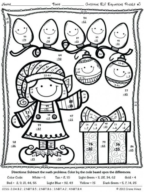 Math Christmas Coloring Pages Math Coloring Pages Printable ..