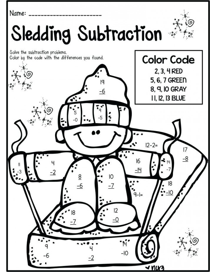 Math Coloring Sheets 13nd Grade Math Coloring Pages Grade For ..