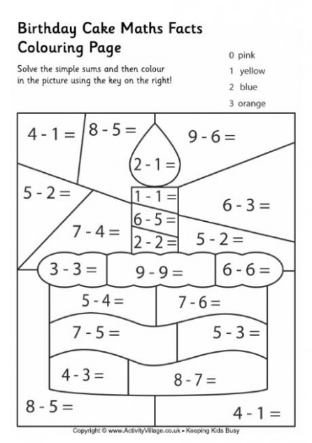Maths Facts Colouring Pages – Christmas Colouring Pages Maths