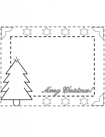Merry Christmas Border coloring page | Free Printable Coloring Pages