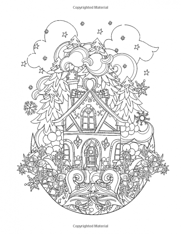 Merry Christmas Coloring Books for Adults: A Beautiful Colouring ..