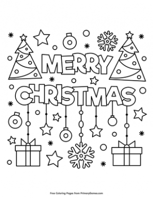 Merry Christmas Coloring Page | Printable Christmas Coloring eBook ..