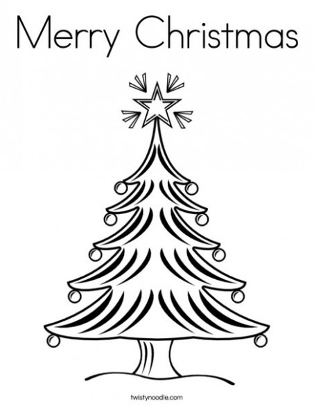 Merry Christmas Coloring Page - Twisty Noodle