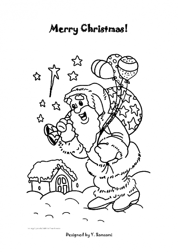 Merry Christmas Coloring Pages – Christmas Coloring Pages For Grade 1