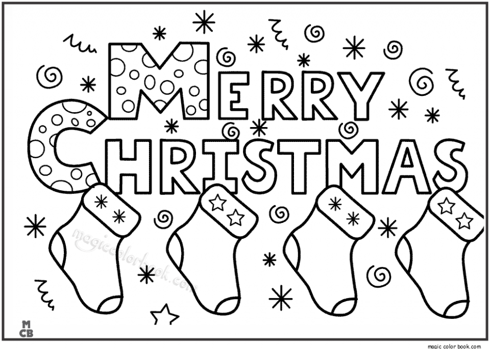 Merry Christmas Coloring Pages For Kids – Free Printable Calendar ..