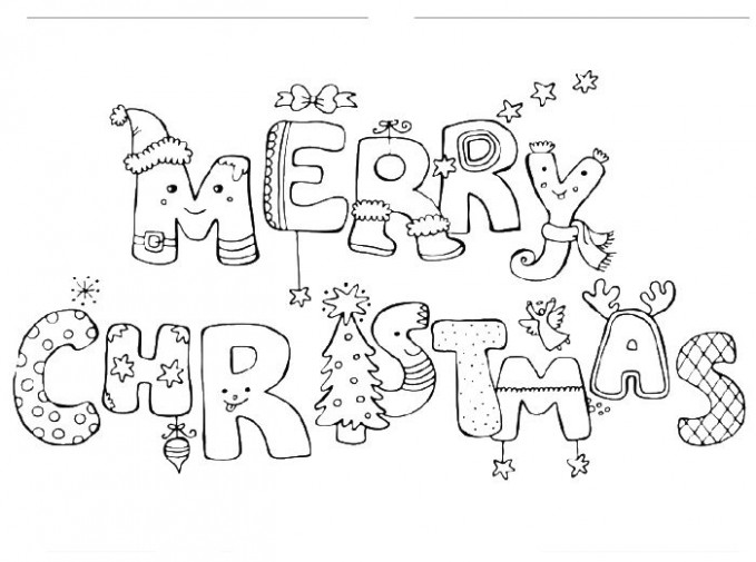 Merry Christmas Coloring Pages - Free Printable Calendar, Blank ...