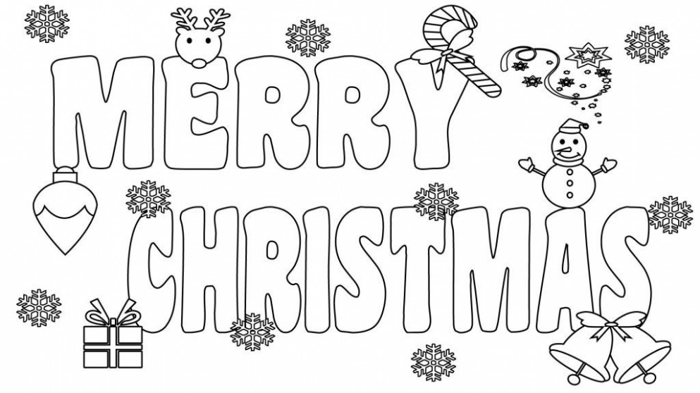 Merry Christmas Coloring Pages Printable | Coloring | Merry ..