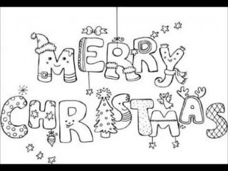 Merry Christmas Coloring Pages That Say (Merry Christmas), Coloring ...