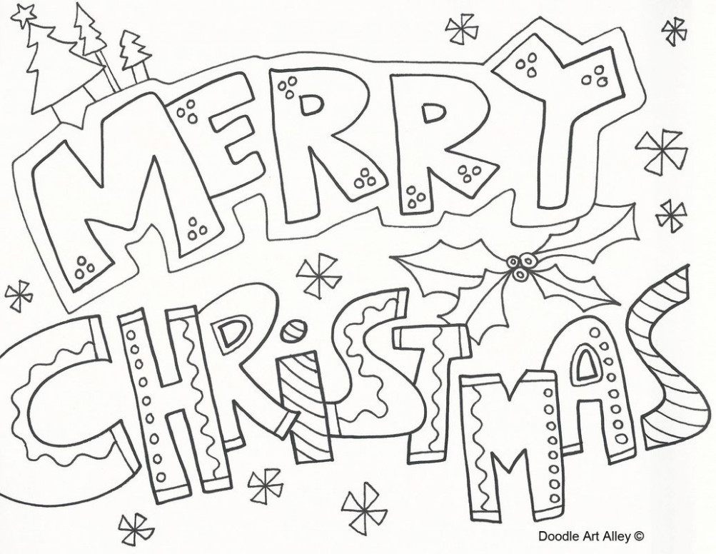 Merry christmas coloring pages to download and print for free ...