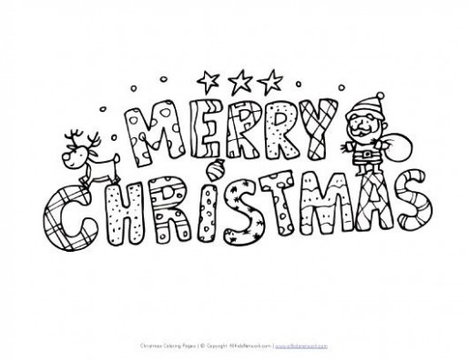 Merry Christmas Coloring Pages | View and Print Your Merry Christmas ..
