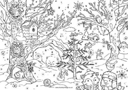 Merry Christmas Colouring Page – Christmas Coloring Pages For Older Students