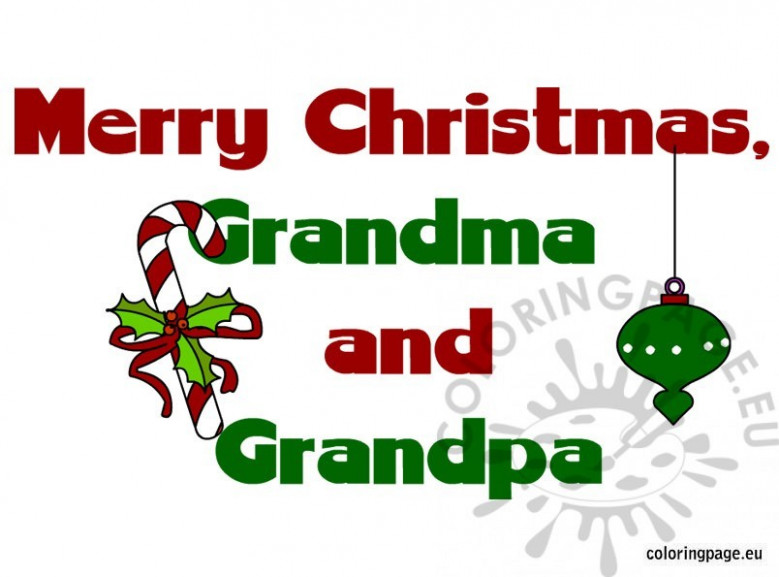 Merry Christmas grandma and grandpa – Coloring Page – Merry Christmas Grandma Coloring Pages