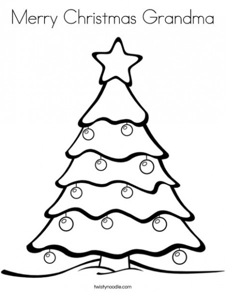 Merry Christmas Grandma Coloring Page – Twisty Noodle – Merry Christmas Grandma Coloring Pages