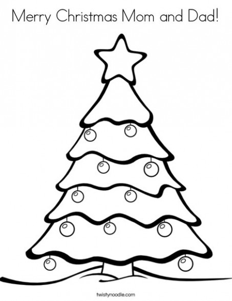 Merry Christmas Mom and Dad Coloring Page - Twisty Noodle