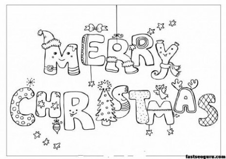 Merry christmas print out coloring pages – Printable Coloring Pages ..