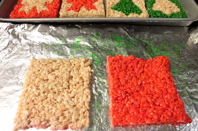 Merry Christmas Rice Krispie Treats - Two Sisters