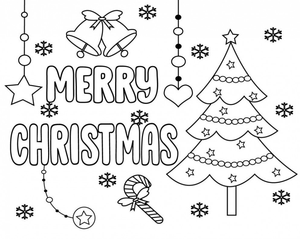 Merry Christmas Words Coloring Pages | Free Coloring Pages | Merry ...