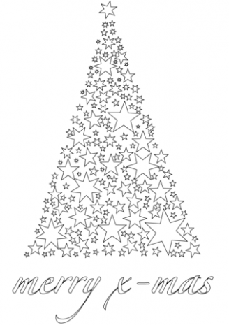 Merry Xmas Card coloring page | Free Printable Coloring Pages