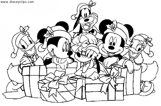 Mickey and Friends Christmas Coloring Sheet | Disney Crafts ..