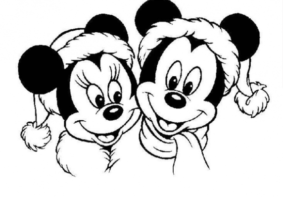 Mickey and Minnie Mouse Christmas Coloring Sheet | Disney Crafts ...